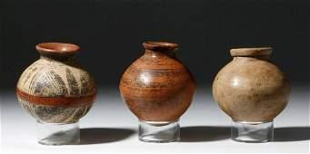 3 Costa Rican  Panamanian Polychrome Jars