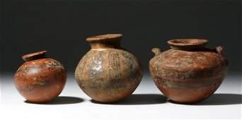 Three Bichrome Panamanian Jars