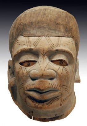 19th C. African Makonde Mapiko Wood Helmet Mask