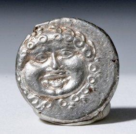 Greek Silver Drachma Of Apollonia Pontika