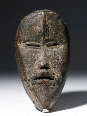 African Dan Passport Carved Wood Maskette