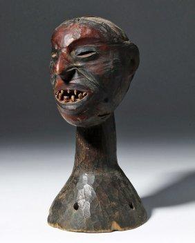 Nigeria Ekoi Skin Covered Headdress