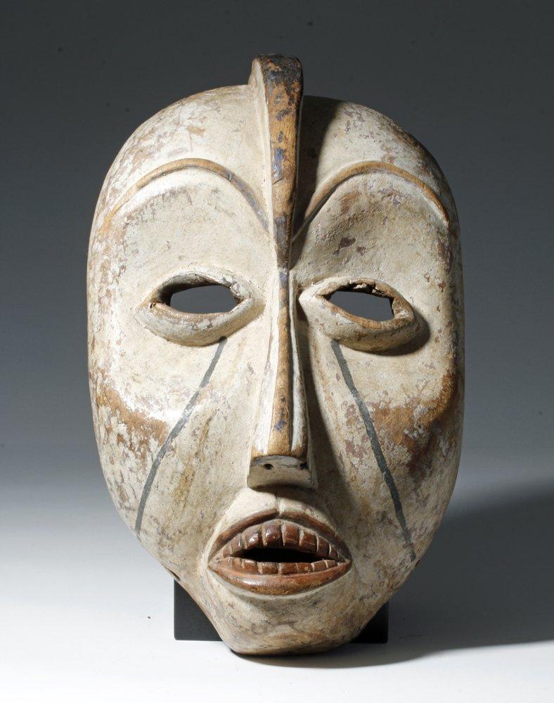 Important African Woyo Painted Wood Mask - Ndunga