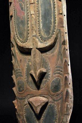 Png Sepik River Wood Gable Mask, Ex-museum