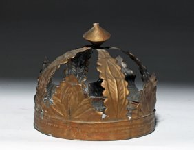 20th C. Spanish Colonial Gilded Tin Crown
