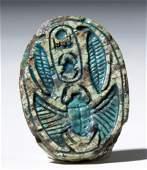 Rare Egyptian Steatite Royal Scarab  Tuthmosis III