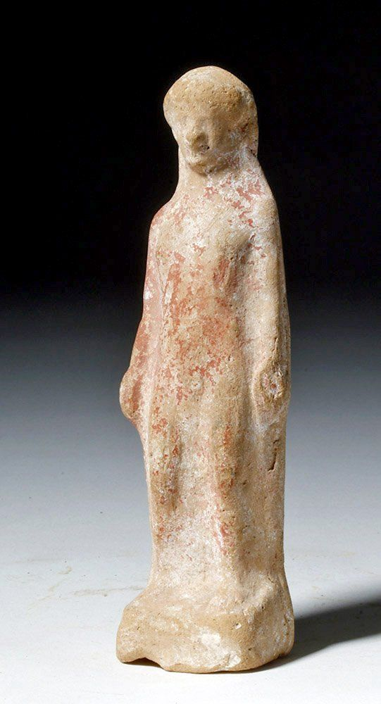 Greek Tanagra Terracotta Votive Figure of Nude Male