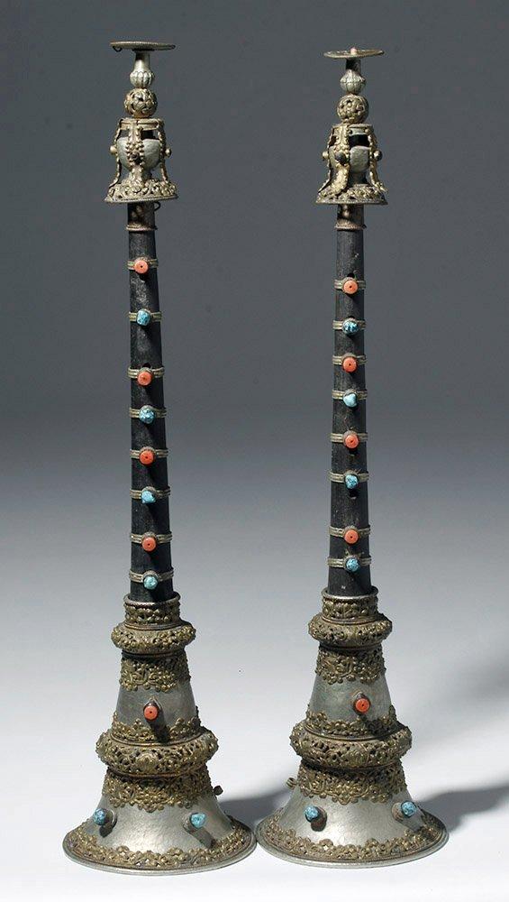 19th C. Tibetan / Nepalese Sacred Wind Instruments (pr)