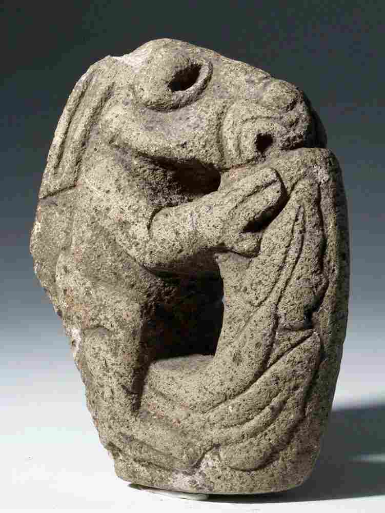 Vera Cruz Stone Hacha Depicting Ocelocoatl / Tlacuache