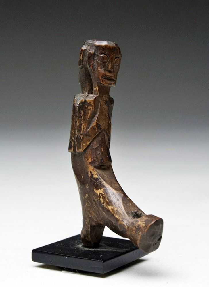 19th C. Dayak Wood Charm Figure, ex-Ami Brown