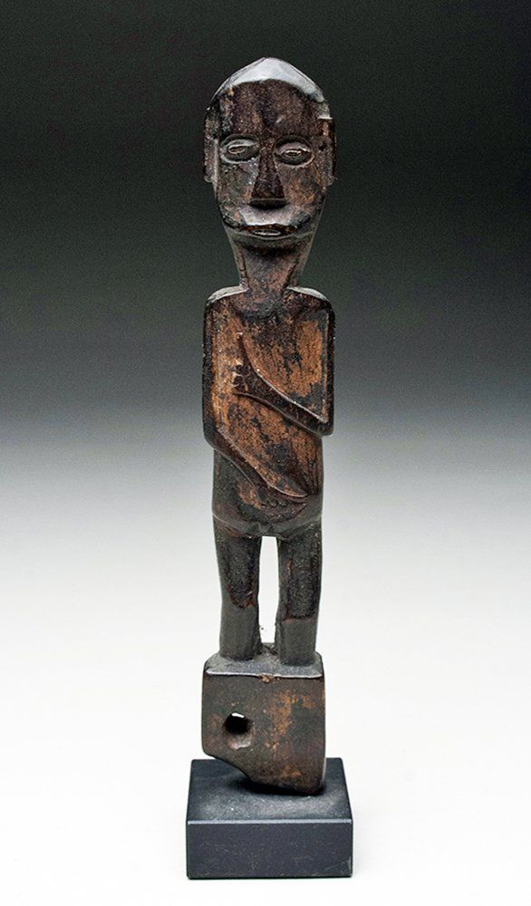 19th C. Dayak Wood Shaman's Charm Figure, ex-Ami Brown