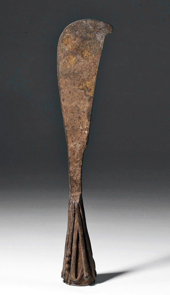 Rare African Burkina Faso Iron Knife Bell