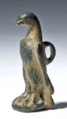 Roman Bronze Amulet - Standing Eagle