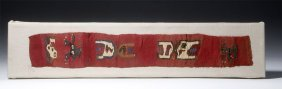 Fine Huari / Wari Textile Panel - Mythological Figures