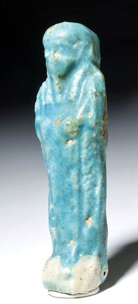 Egyptian Faience Shabti - Lovely Turquoise Color