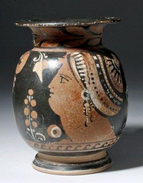 Greek Apulian Olpe - Lady Of Fashion