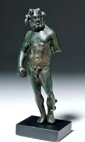 Roman Bronze Poseidon Statuette - Perfect Form