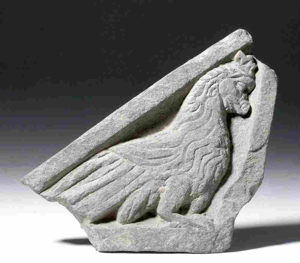 Ancient Gandharan Stone Panel (Stair Riser)- Griffin