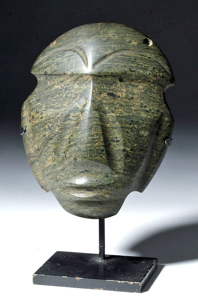 Superb Mezcala Guerrero Greenstone Mask