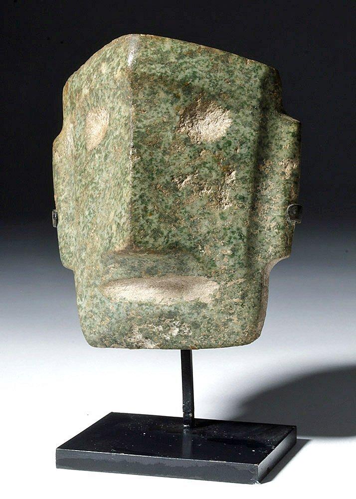 Mezcala Guerrero Greenstone Head - Cubist