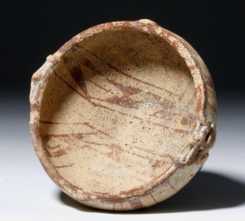 Rare Muisca Bichrome Pottery Frog Bowl