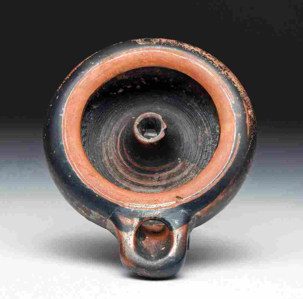 Greek Attic Pole Oil Lamp