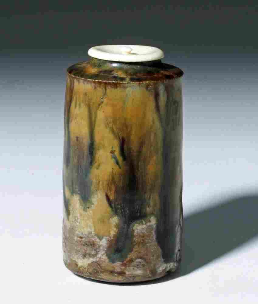 Rare / Exhibited Japanese Heian Dynasty Glazed Pyxis