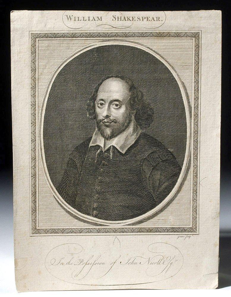 Pub. Shakespeare Line Engraving - J. Goldar & J. Taylor