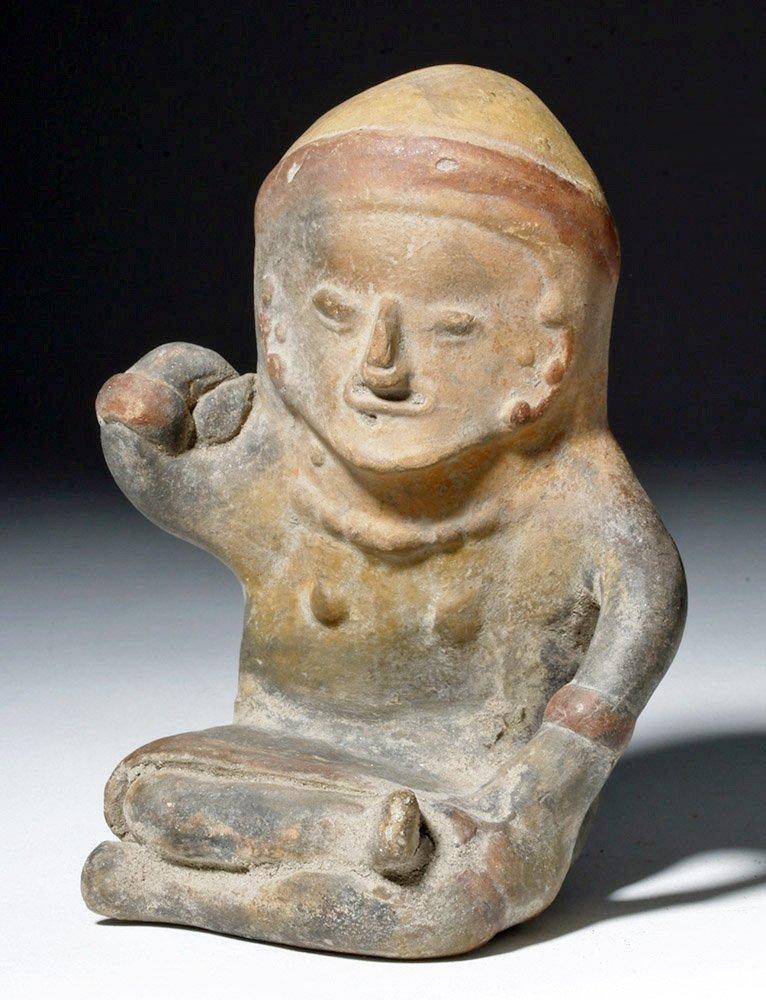 Ecuadorian Bahia Seated Effigy Figure