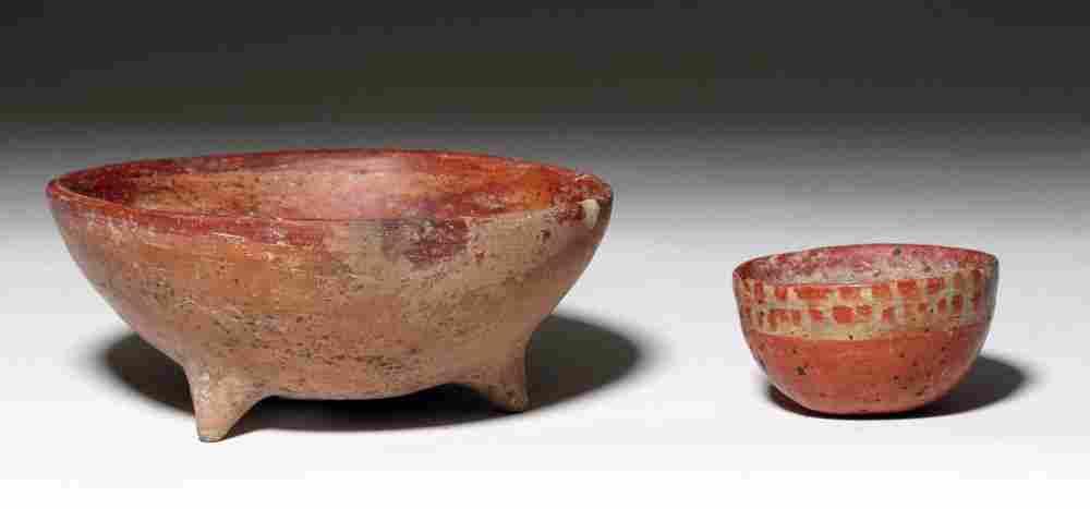 Pair of Chinesco and Nayarit Terracotta Bowls