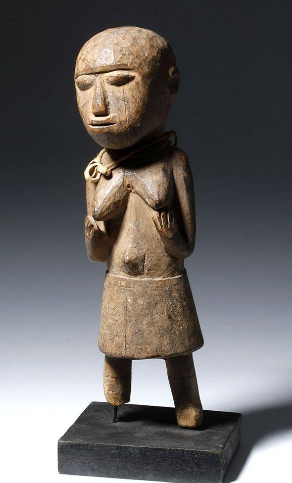 African Lobi Carved Wooden Female