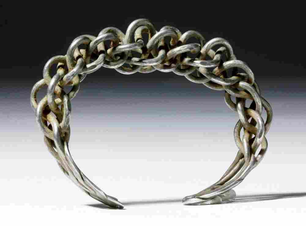 Gorgeous Braided Silver Viking Bracelet