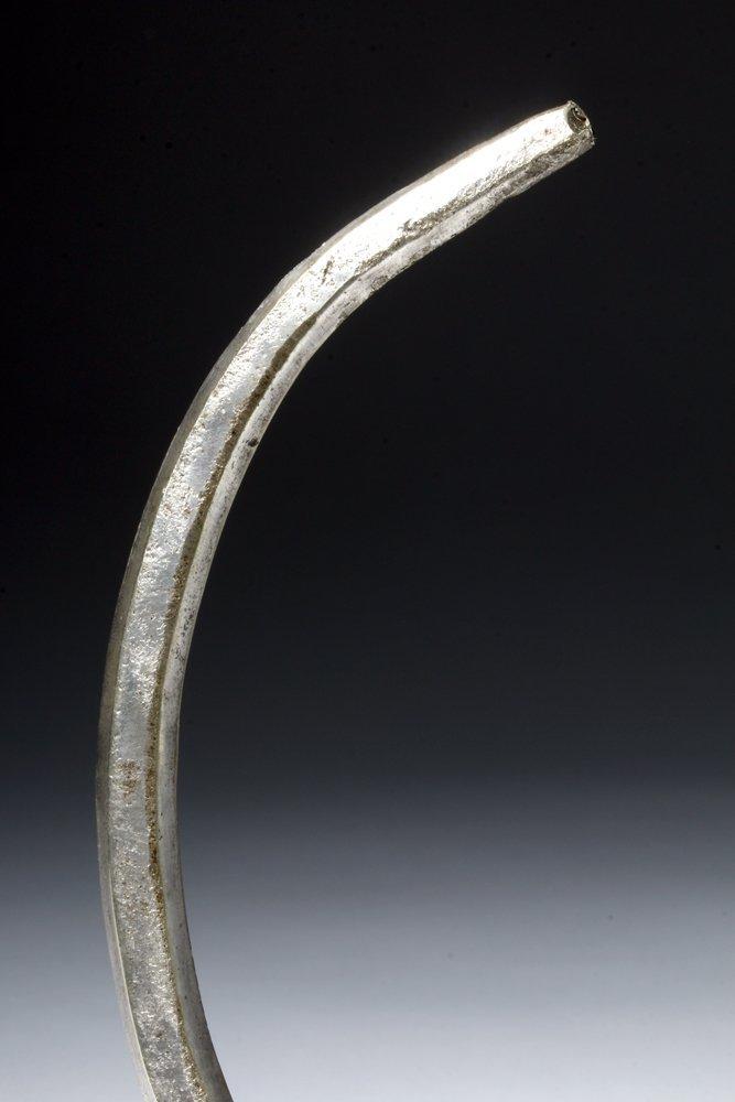 Massive Viking Silver Neck Torque - Stamped Designs - 6