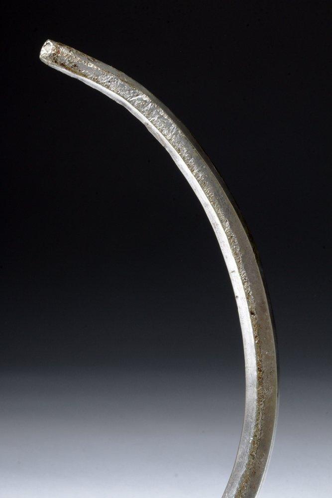 Massive Viking Silver Neck Torque - Stamped Designs - 7