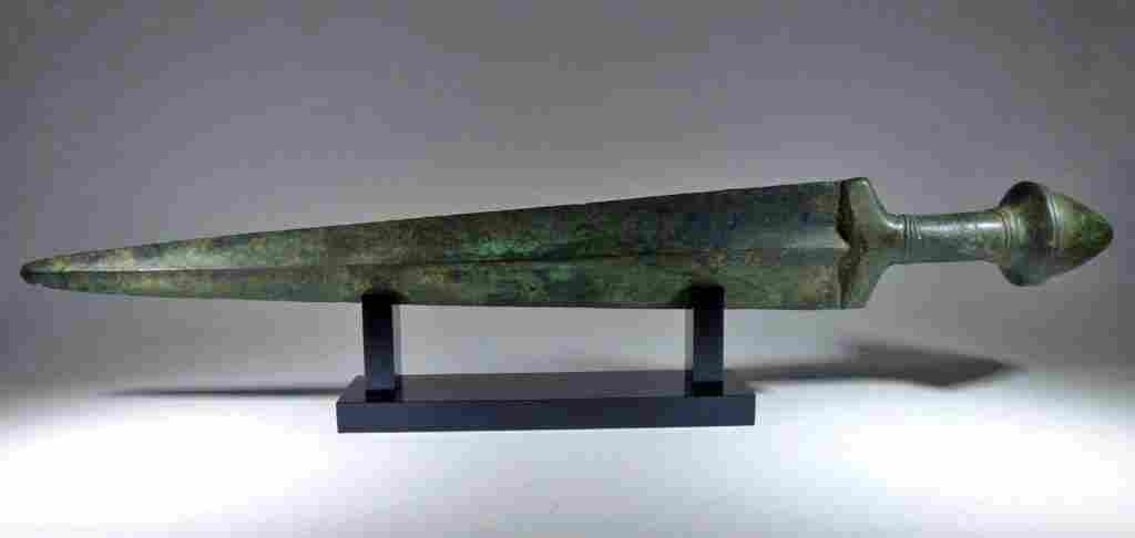 """Superb Ancient Luristan Bronze Sword - 21""""L"""