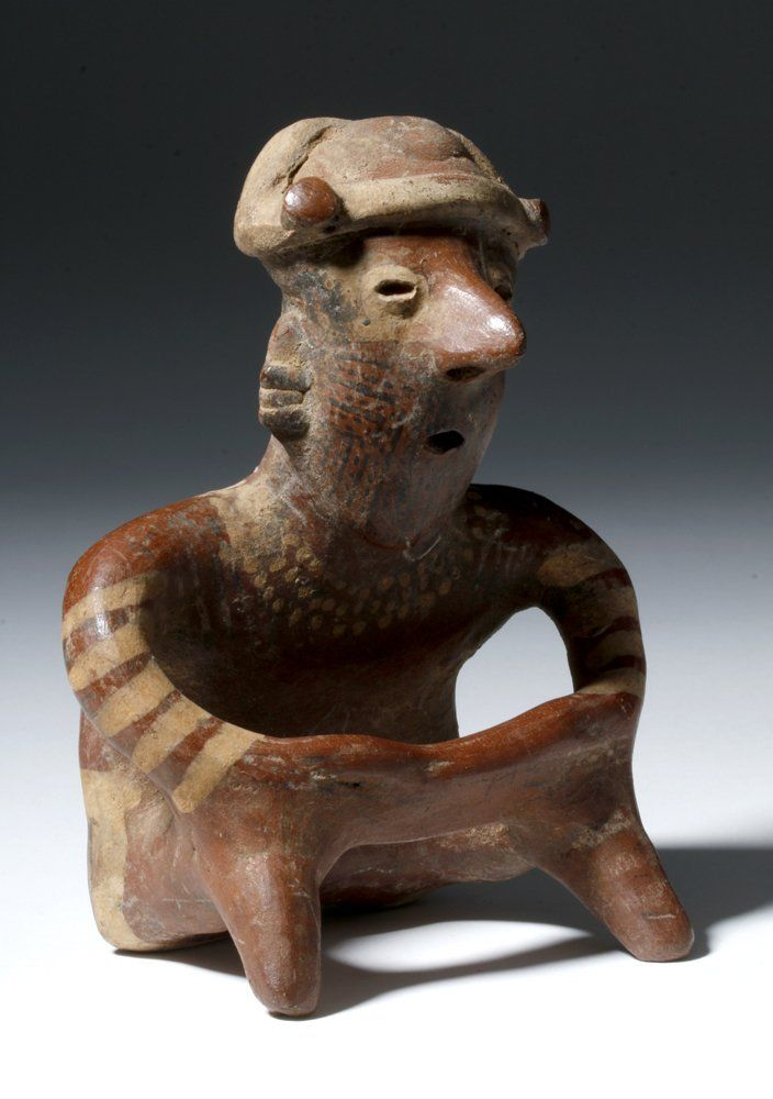 Nayarit Pottery Seated Ancestor Figure