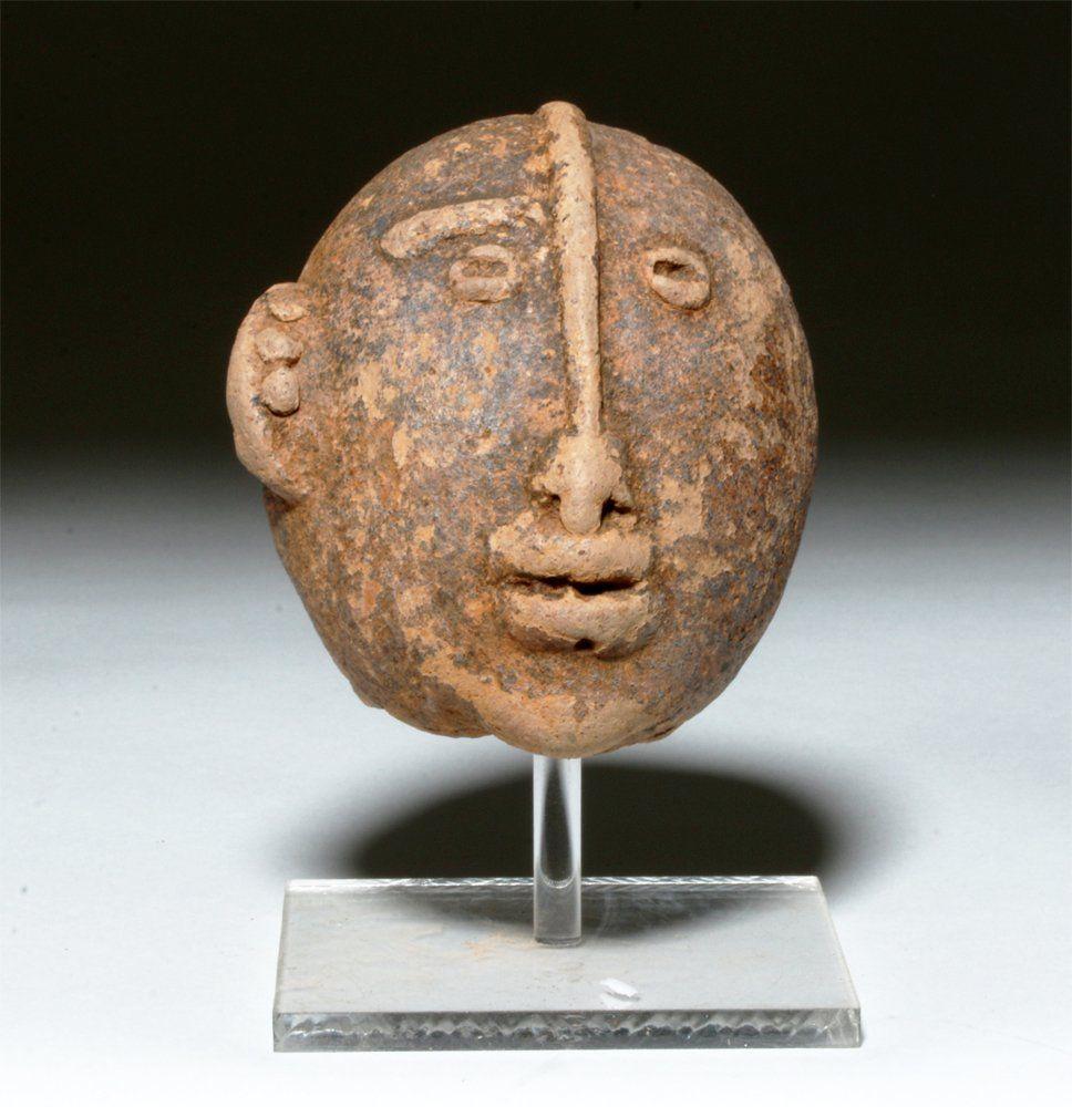 Ancient African Clay Bura Head, ex-Arnovick