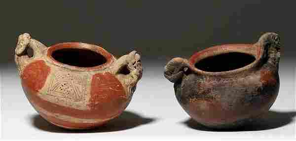 Lot of 2 Panamanian Pottery Bowls
