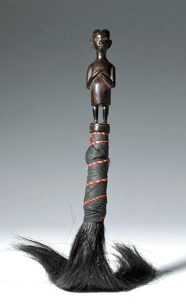 Fine 20th C. Kwere People Wood Fly Whisk