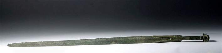 Superb  Intact Luristan Bronze Sword  35 L