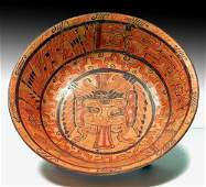 Mayan Copn Polychrome Footed Plate