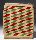 19th C. Native American Flat Corn Husk Bag - Nez Perce