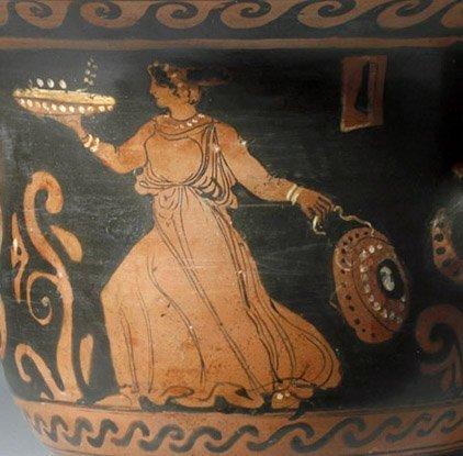 Greek Paestum Red-Figure Pottery Bell Krater - 5