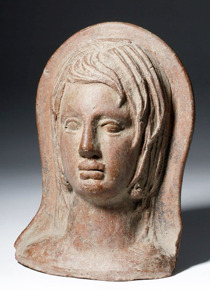 Very Fine Etruscan Pottery Votive of Youth
