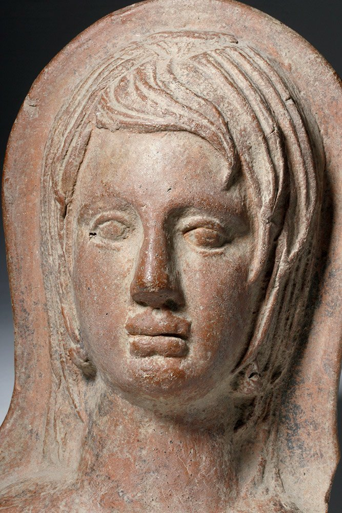 Very Fine Etruscan Pottery Votive of Youth - 2