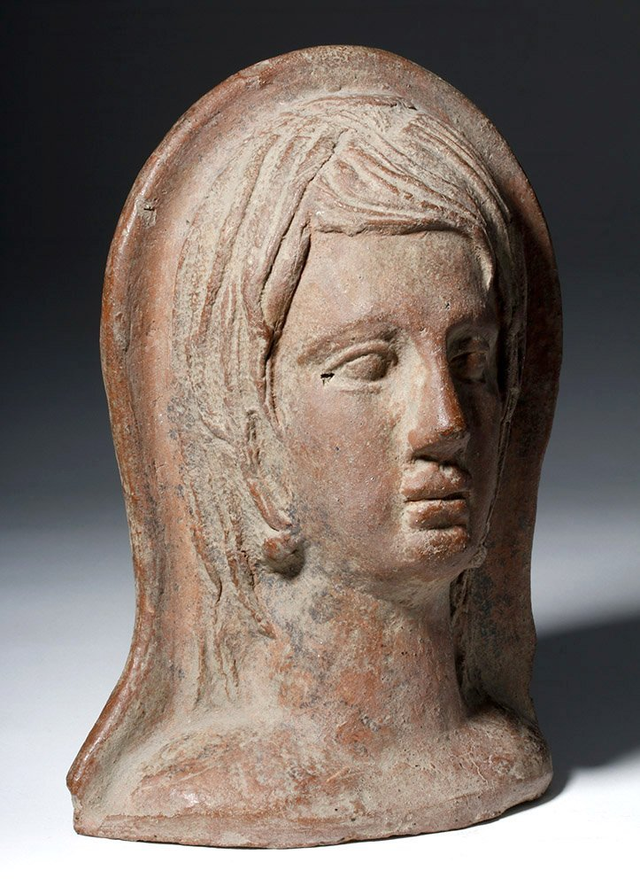 Very Fine Etruscan Pottery Votive of Youth - 4