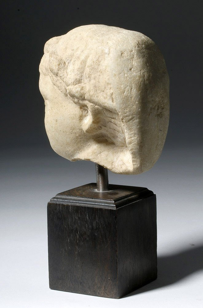 Adorable Roman Marble Head of a Child, ex-Arnovick - 2