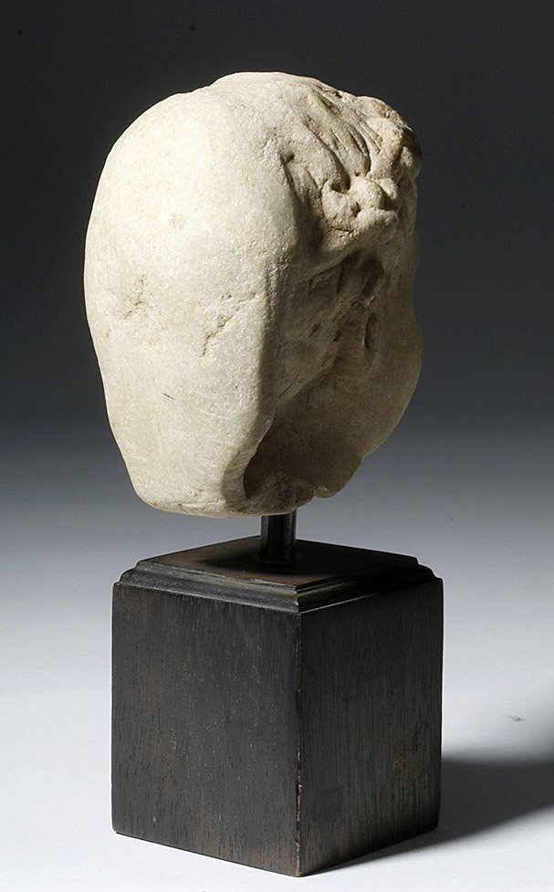 Adorable Roman Marble Head of a Child, ex-Arnovick - 3