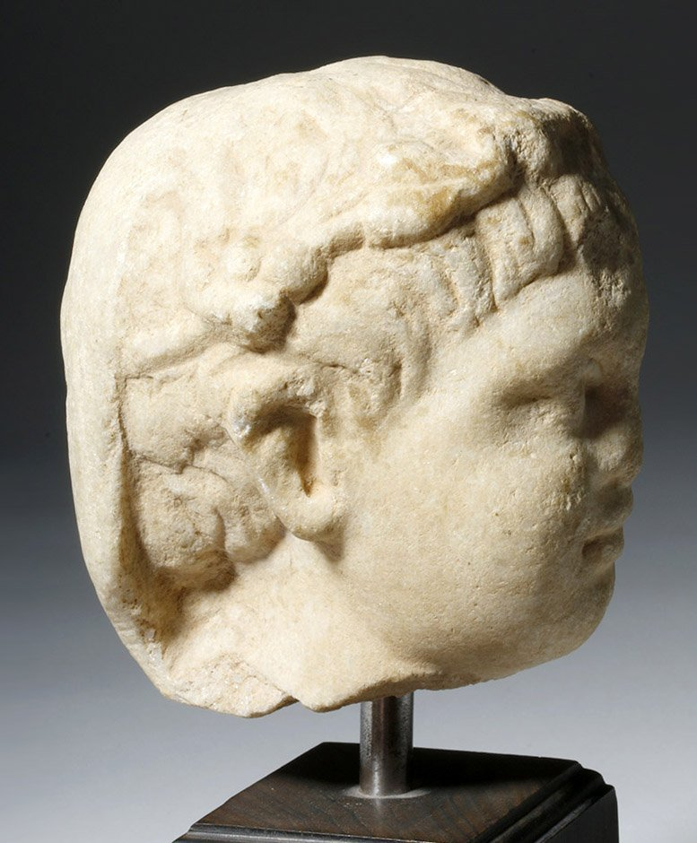 Adorable Roman Marble Head of a Child, ex-Arnovick - 8
