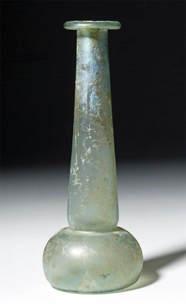 Roman Green Glass Perfume Bottle Unguentarium - 4
